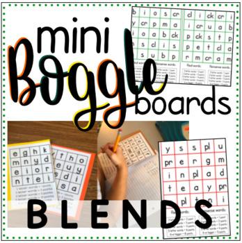 Mini Boggle Boards - Blends