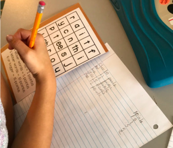 Mini Boggle Boards (phonic patterns included)