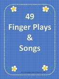 Mini Book - 49 Finger plays & Songs
