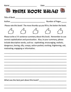 Mini Book Brag Report