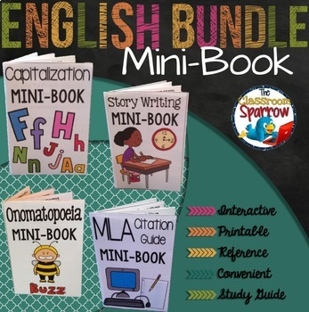 ELA Interactive Notebook Mini-Book Bundle (grammar, punctuation, essays, etc.)
