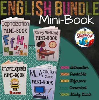 ELA Interactive Notebook Mini-Book Bundle (grammar, punctuation, essays, etc.)