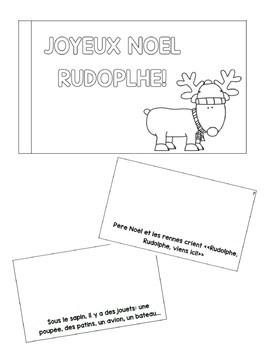 Mini Book/Petit Livret - Joyeux Noel Rudolphe