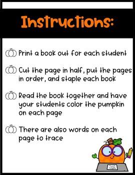 Mini Book: Orange pumpkin, what do you see?