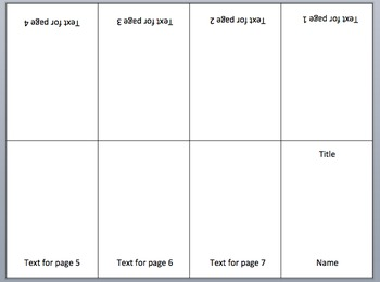 It is a picture of Clever Free Printable Mini Book Template