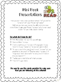 Mini Book Presentations W/ Attached Rubric!