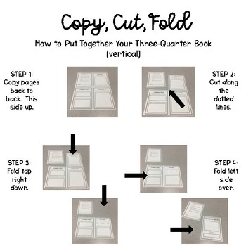 Mini Book Report Three Quarter Book