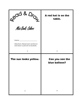 Mini Book Set-Read & Draw (Short Vowels, Colors, Numbers)