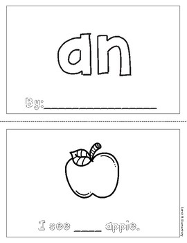 "Mini-Book: Sight Word ""an"""