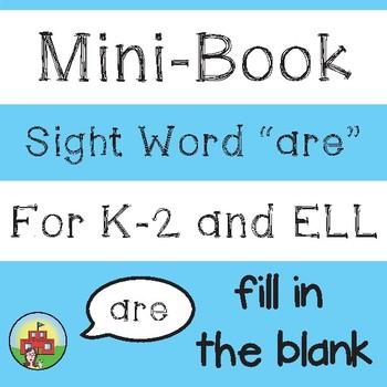 """Mini-Book: Sight Word """"are"""""""