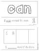 """Mini-Book: Sight Word """"can"""""""