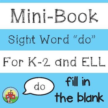 "Mini-Book: Sight Word ""do"""
