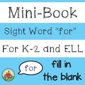 "Mini-Book: Sight Word ""for"""