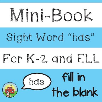 "Mini-Book: Sight Word ""has"""