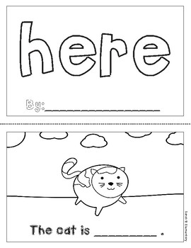 "Mini-Book: Sight Word ""here"""