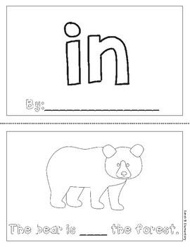 """Mini-Book: Sight Word """"in"""""""