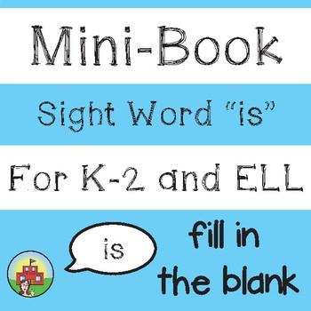 "Mini-Book: Sight Word ""is"""
