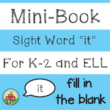 "Mini-Book: Sight Word ""it"""