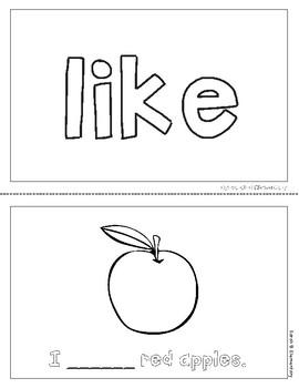 "Mini-Book: Sight Word ""like"""