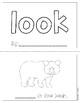 "Mini-Book: Sight Word ""look"""