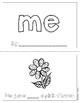 "Mini-Book: Sight Word ""me"""