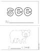 "Mini-Book: Sight Word ""see"""