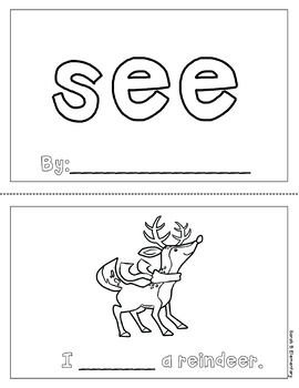 "Mini Book: Sight Word ""see"" (Winter Themed)"