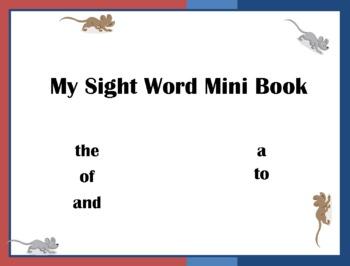 Mini Book: Sight Words