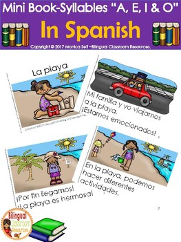 "Mini Book-Syllable ""A, E,  I & O"" in Spanish"