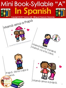 "Mini Book-Syllable ""A"" in Spanish."