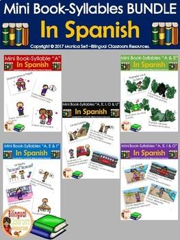 Mini Book-Syllables BUNDLE in Spanish