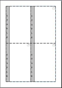 Mini Book Template - Editable