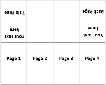 Mini-Book Template for Word