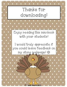 """Mini-Book """"Thanksgiving Dinner"""""""