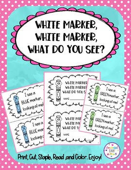 Mini Book: White marker, what do you see?