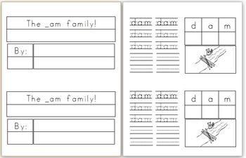 Mini Book: _am Word Family