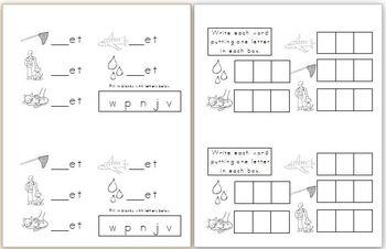 Mini Book: _et Word Family