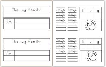 Mini Book: _ug Word Family