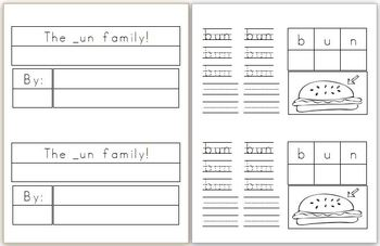 Mini Book: _un Word Family