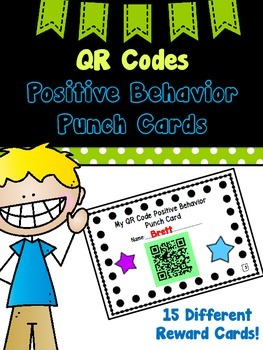 QR Codes Positive Behavior Punch Cards