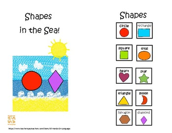 Shapes in the Sea! Interactive Mini-Book