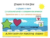Shapes in the Sea! Interactive Mini-Book Autism Support