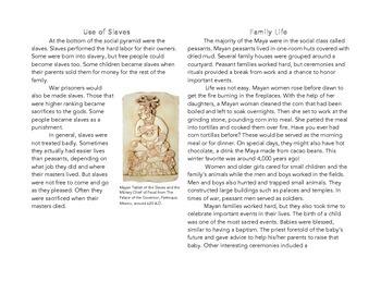 Mini Book on the Mayan Civilization