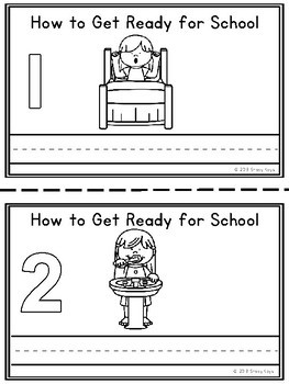 Mini-Booklet: How to Get Ready for School (w/out prompts)