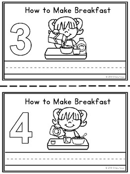 Mini-Booklet: How to Make Breakfast (w/out prompts)