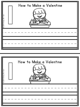 Mini-Booklet: How to Make a Valentine (w/out prompts)