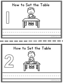 Mini-Booklet: How to Set the Table (w/out prompts)
