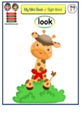 "Mini Booklet of Sight Word ""look"""