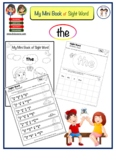 "Mini Booklet of Sight Word ""the"""