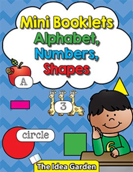 Mini Booklets - Alphabet Numbers Shapes